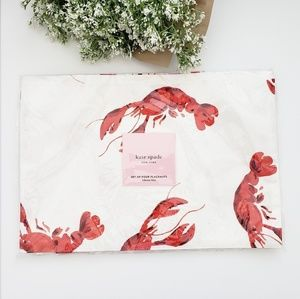 SALE!NWT KATE SPADE SET OF 4 LOBSTER PETE PLACEMAT